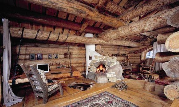Деревянные дома своими руками фото интерьер