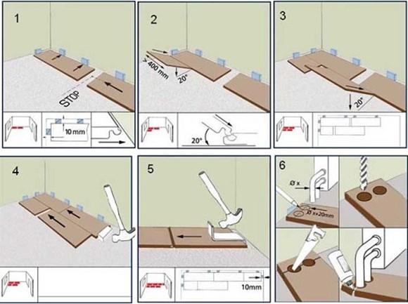 Укладка ламината своими руками пошаговая инструкция на деревянный пол