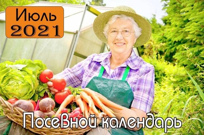 Июль 2021 Посевной календарь