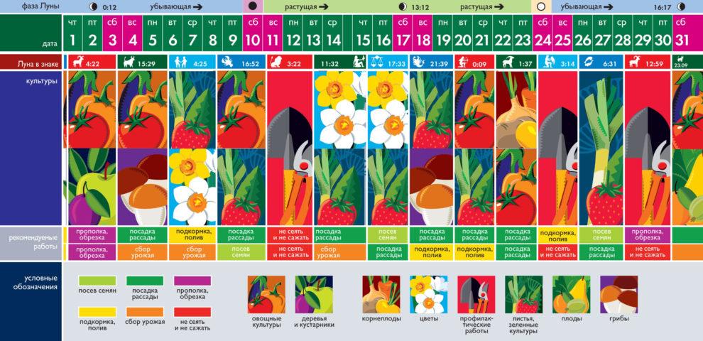 Лунный посевной календарь на июль 2021 года (таблица благоприятных дней)