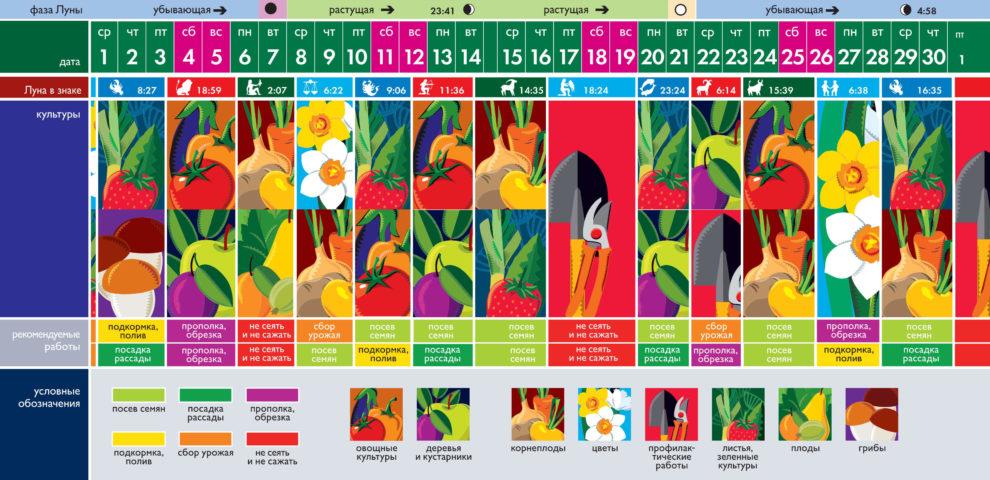 Лунный посевной календарь на сентябрь 2021 года (таблица благоприятных дней)
