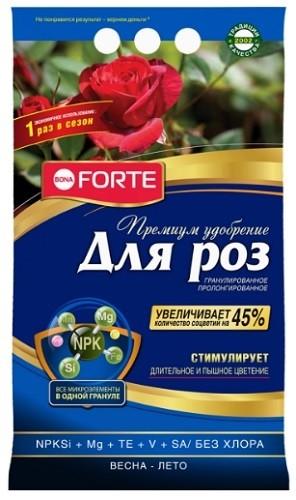 Удобрение для роз и клумбовых цветов с биодоступным кремнием Bona Forte